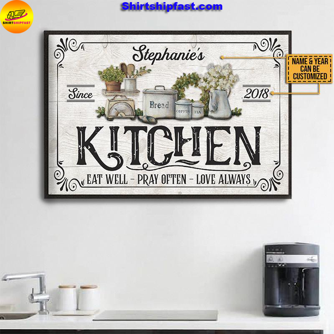 Personalized Farmhouse Kitchen Love Always Customized Poster - Picture 2