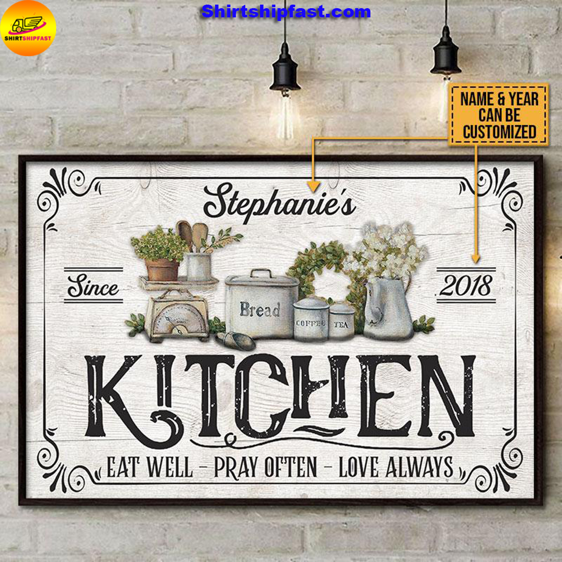 Personalized Farmhouse Kitchen Love Always Customized Poster - Picture 3