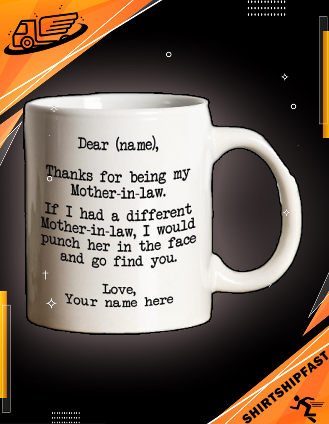 Personalized Thanks for being my mother-in-law mug - Picture 3
