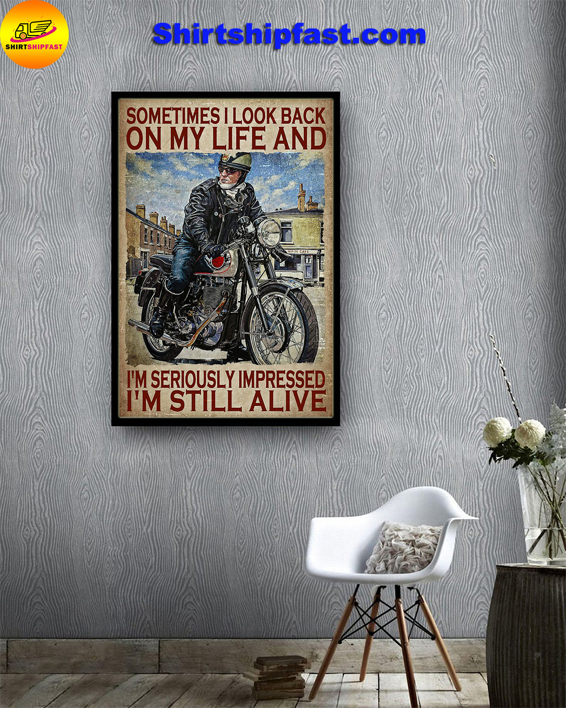 Poster Biker sometimes I look back on my life - Picture 2
