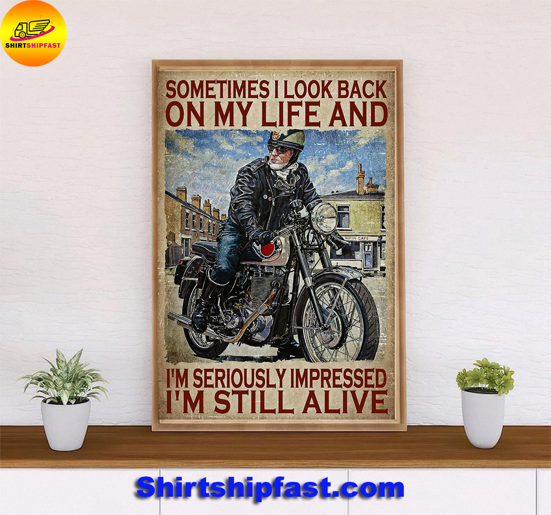 Poster Biker sometimes I look back on my life - Picture 3