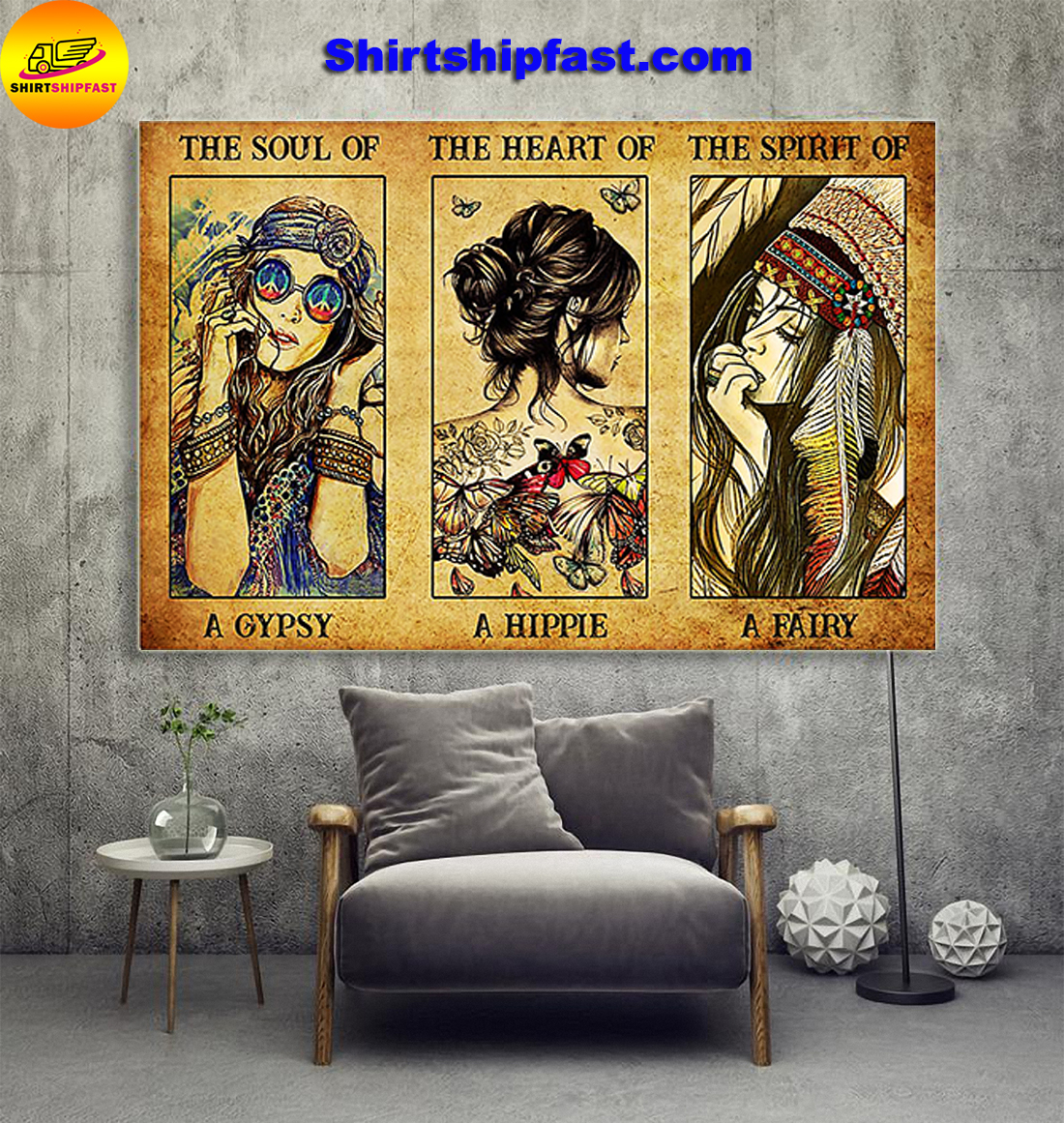Poster The soul of a gyspy the heart of a hippie the spirit of a fairy - Picture 1