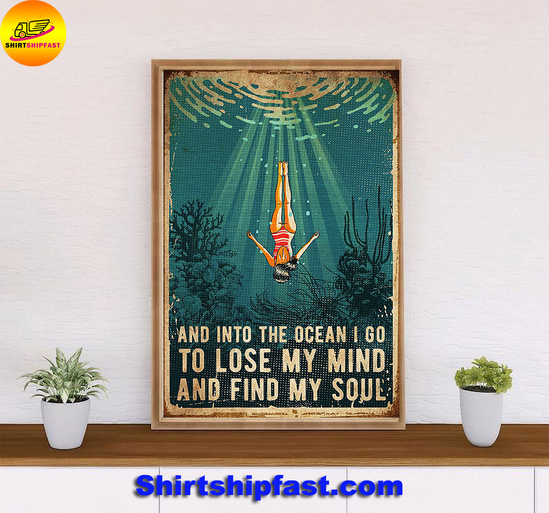 Swimming and into the ocean i go poster - Picture 3
