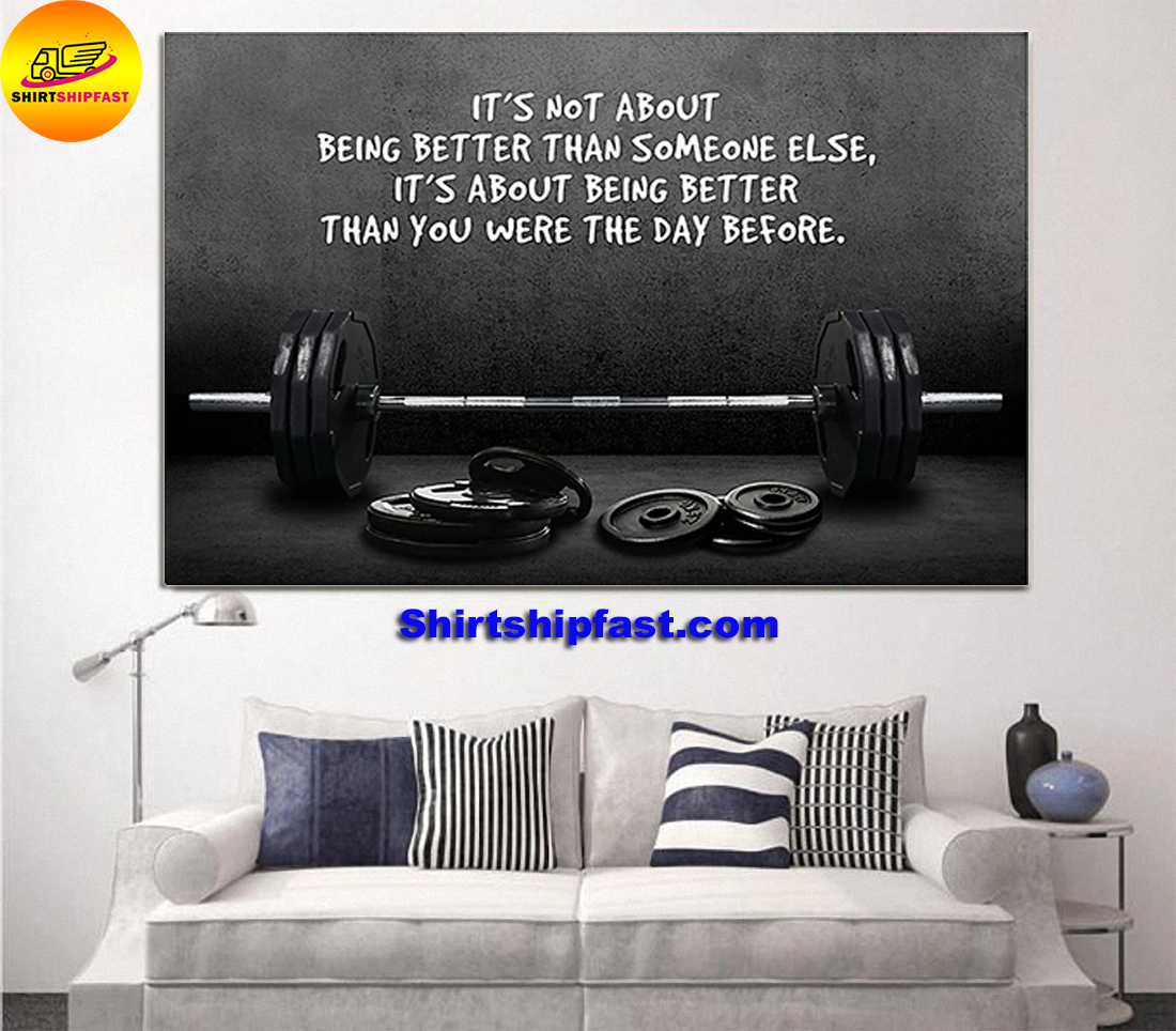 Weightlifting It's not about being better than someone else poster - Picture 2