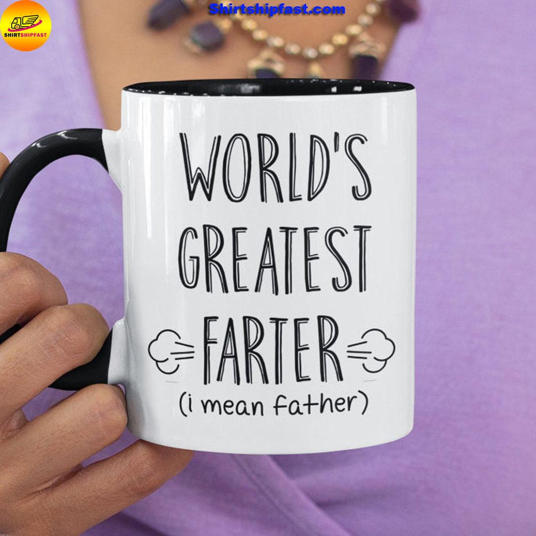 World's greatest farter i mean father mug - Picture 1