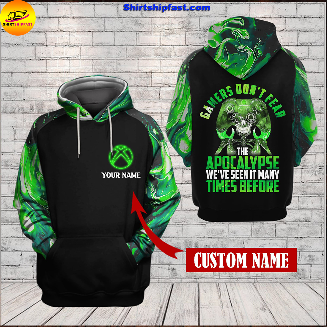 Xbox Gamers don't fear the apocalypse 3d hoodie and zip hoodie