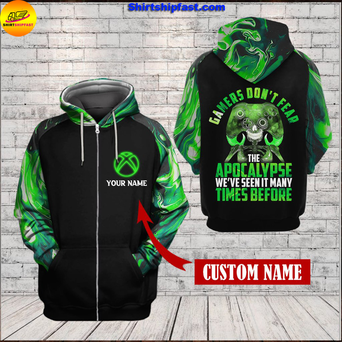 Xbox Gamers don't fear the apocalypse 3d zip hoodie