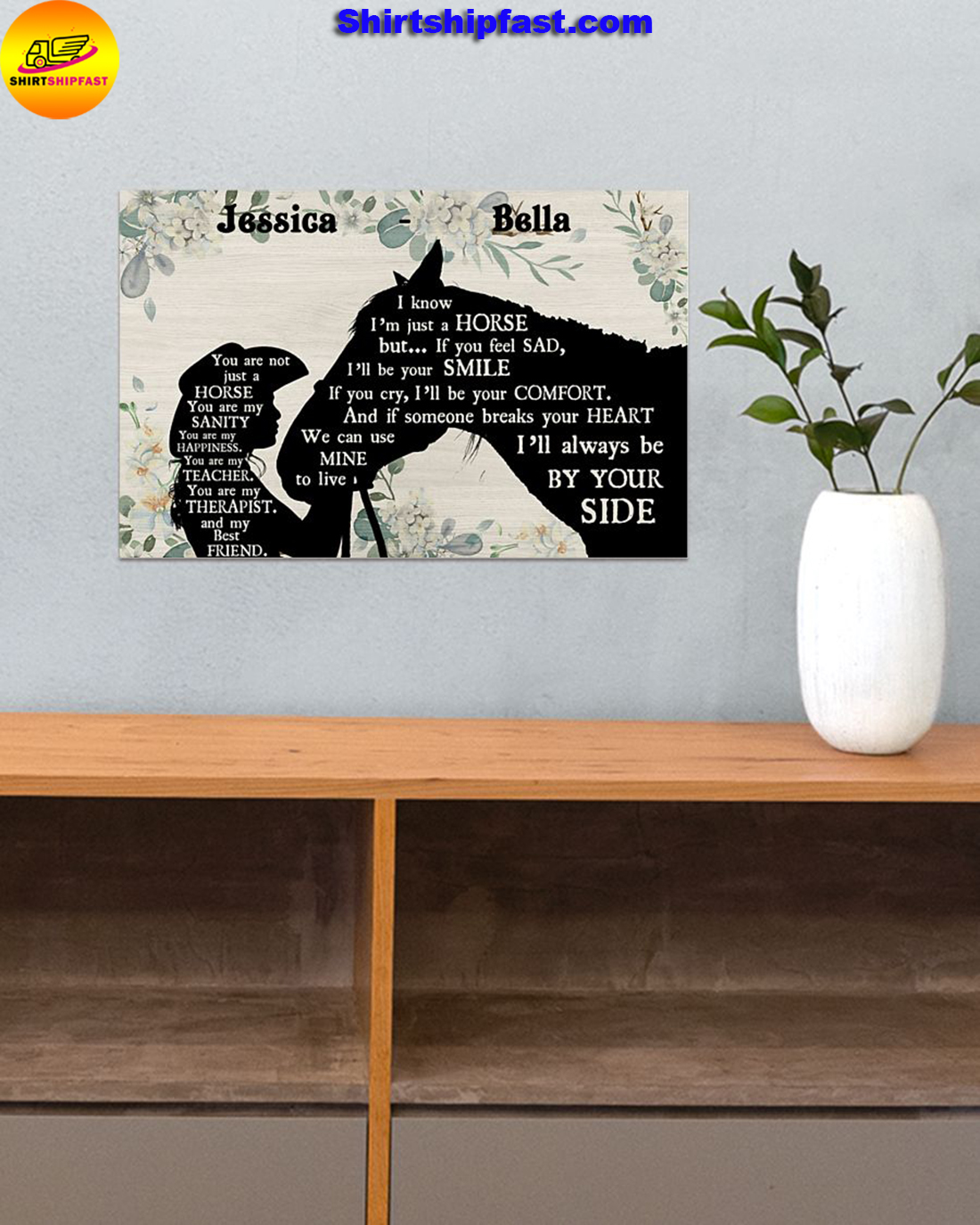 You are not just a horse personalized horse lover poster - Picture 1