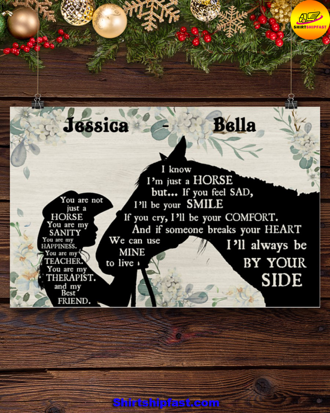 You are not just a horse personalized horse lover poster - Picture 2