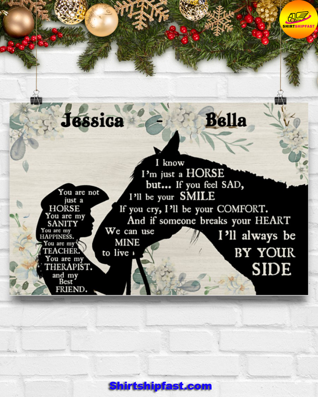 You are not just a horse personalized horse lover poster - Picture 3