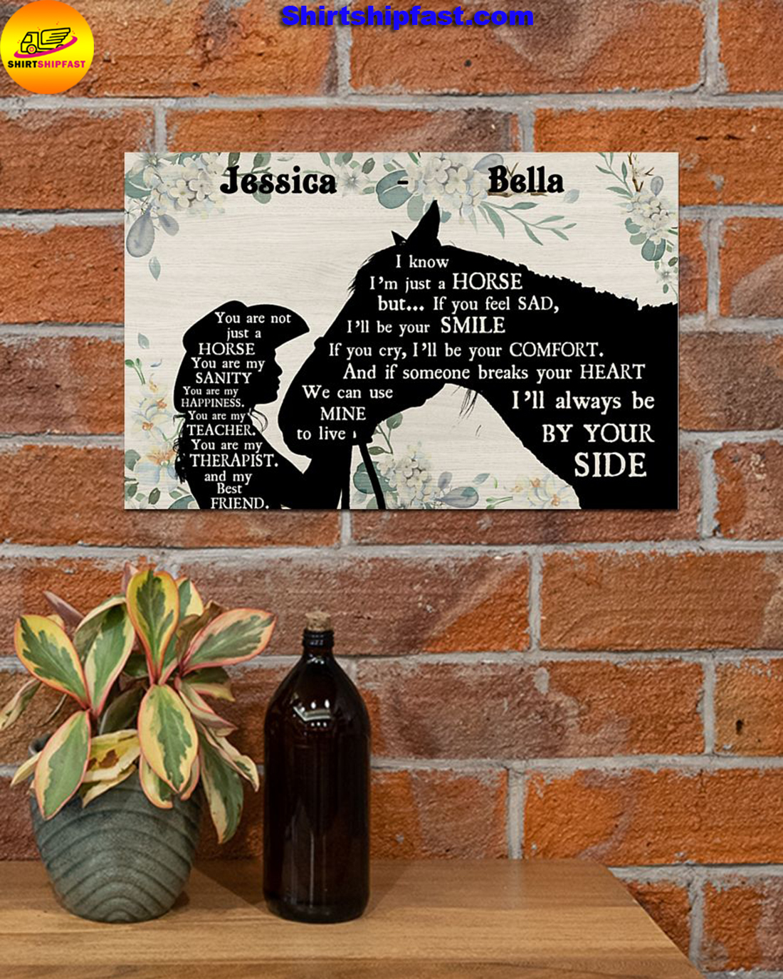 You are not just a horse personalized horse lover poster