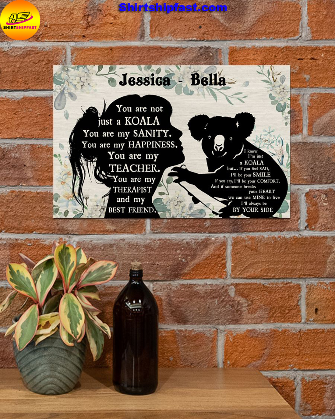 You are not just a koala personalized koala lover poster - Picture 2