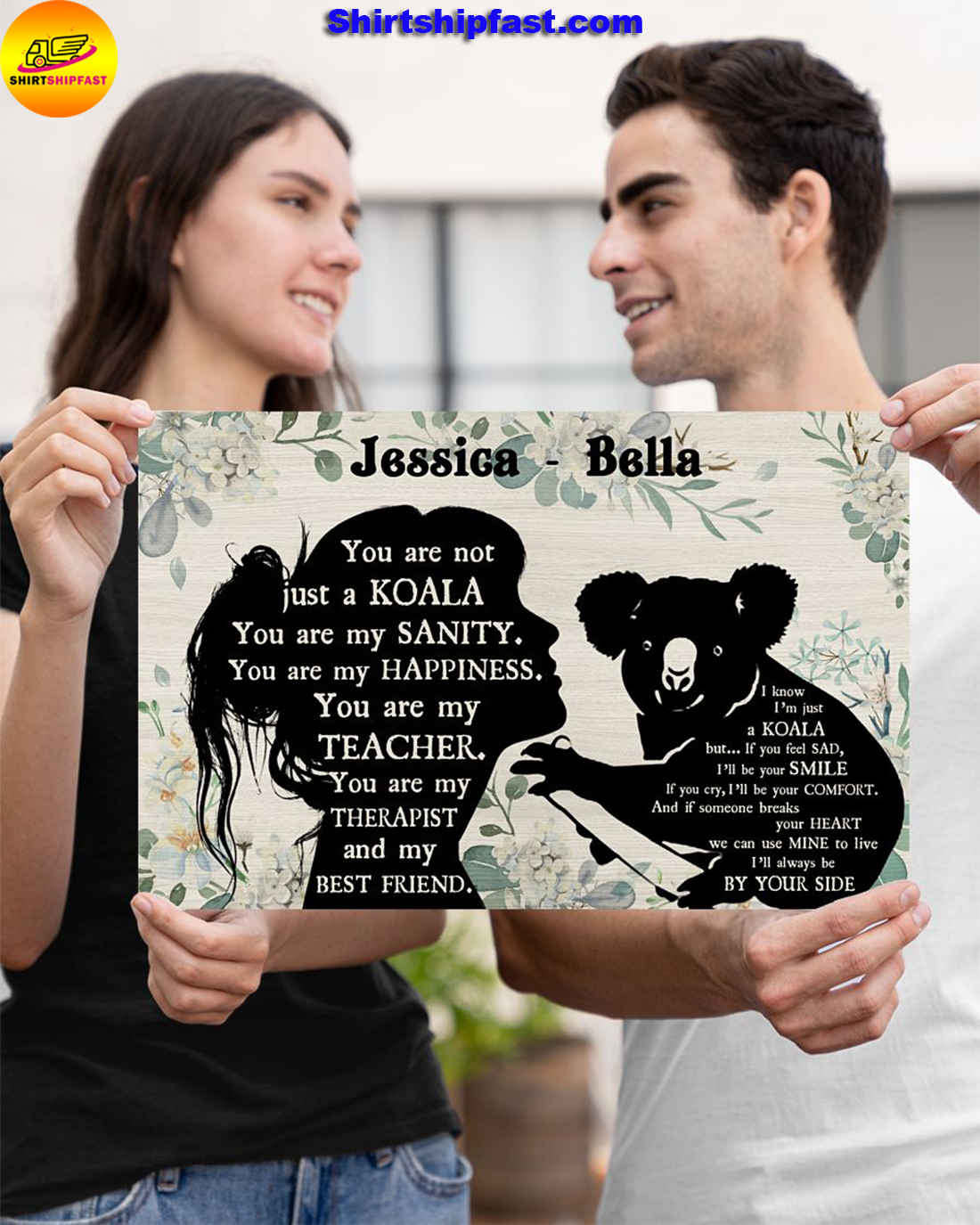 You are not just a koala personalized koala lover poster
