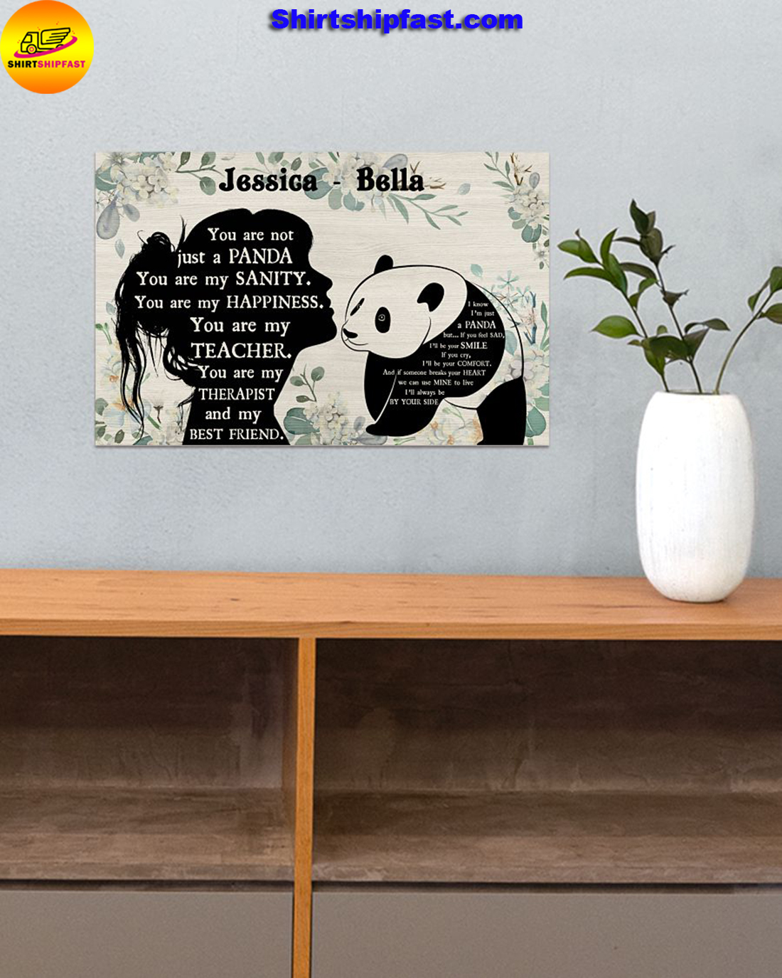 You are not just a panda personalized panda lover poster - Picture 1