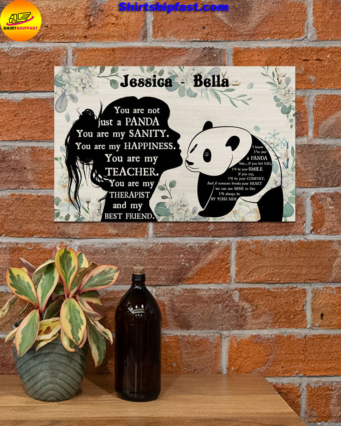 You are not just a panda personalized panda lover poster - Picture 2