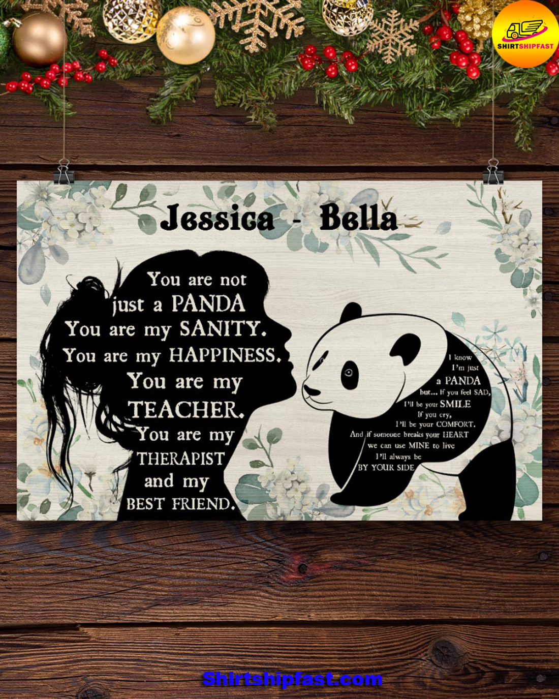 You are not just a panda personalized panda lover poster - Picture 3