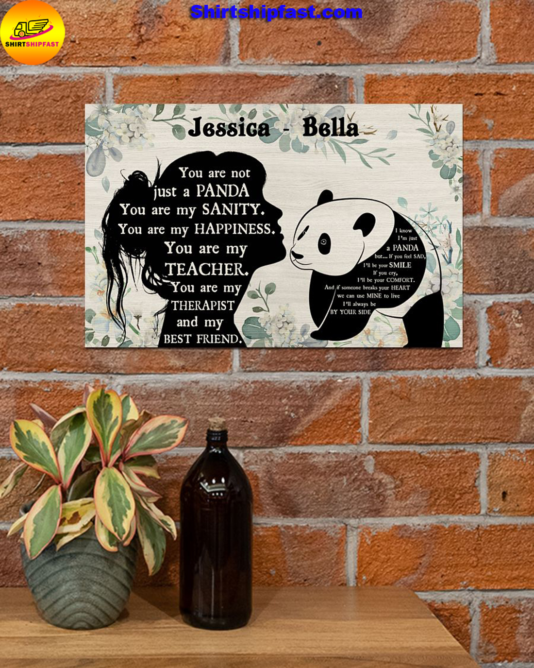 You are not just a panda personalized panda lover poster