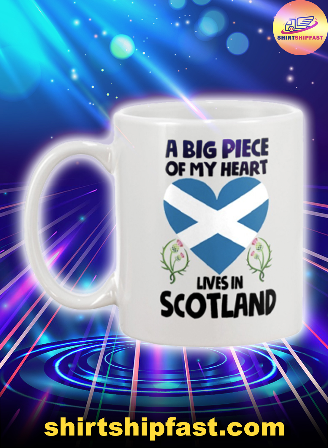 A big piece of my heart lives in Scotland mug - Picture 1