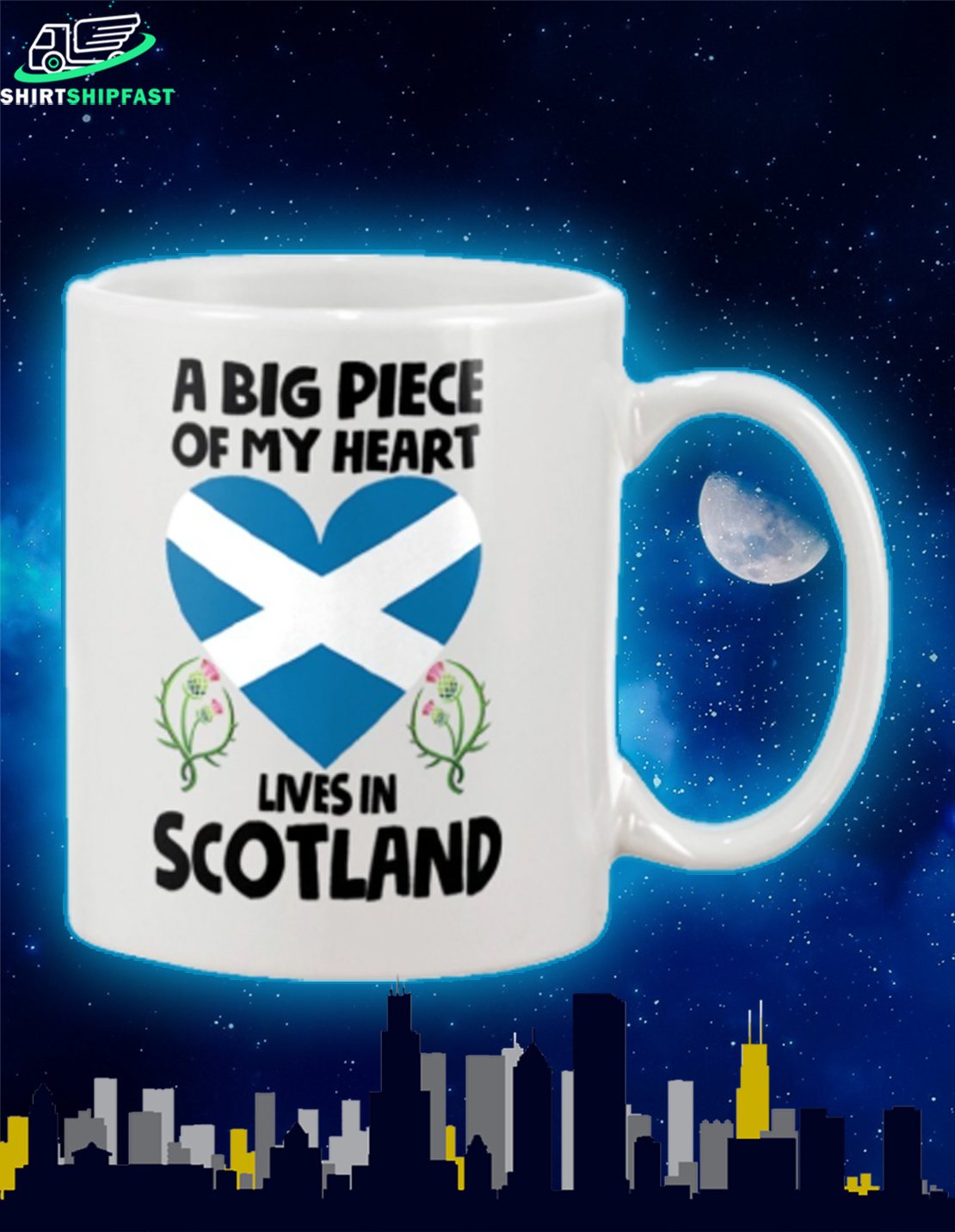 A big piece of my heart lives in Scotland mug - Picture 2