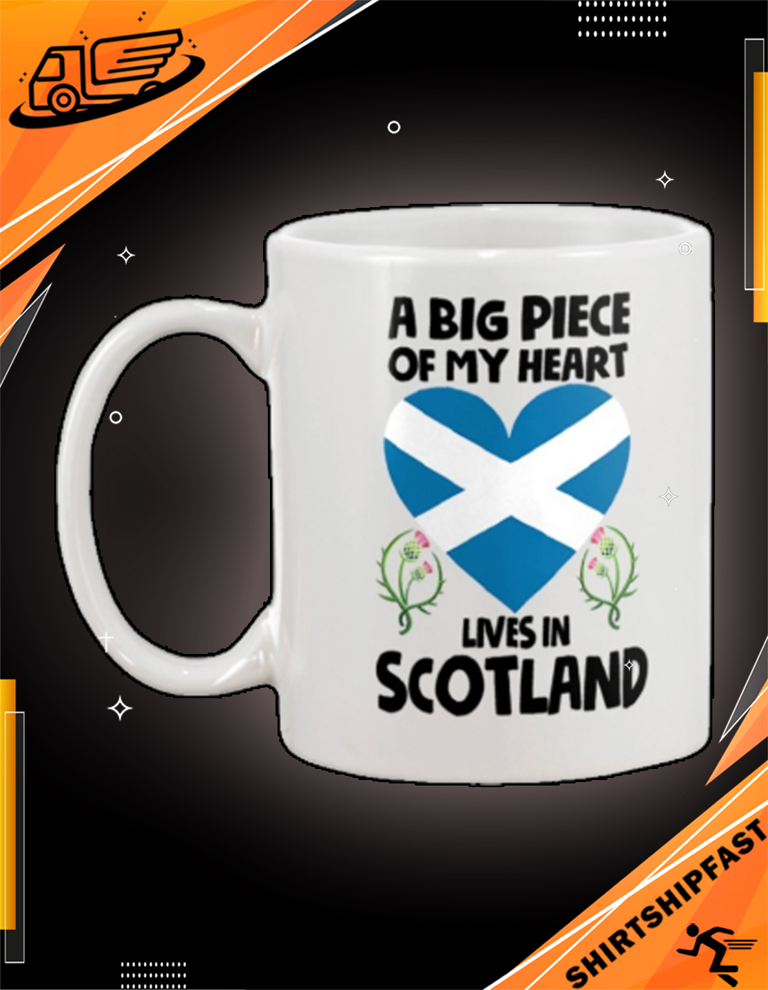 A big piece of my heart lives in Scotland mug - Picture 3