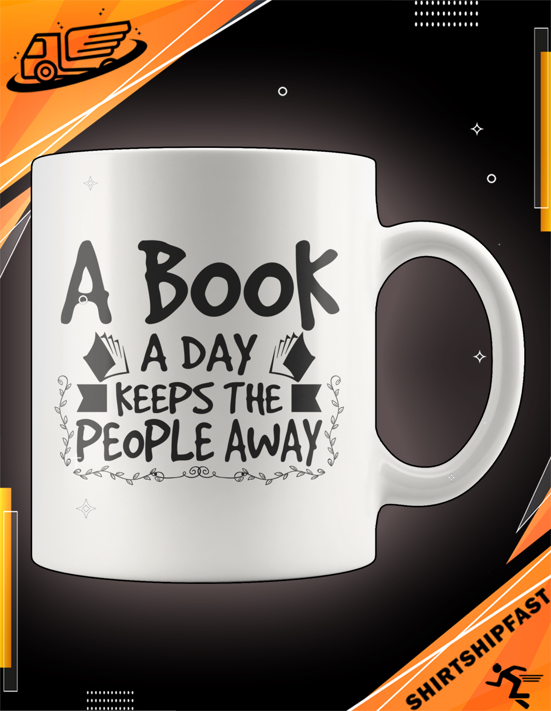 A book a day keeps the people away mug - Picture 2