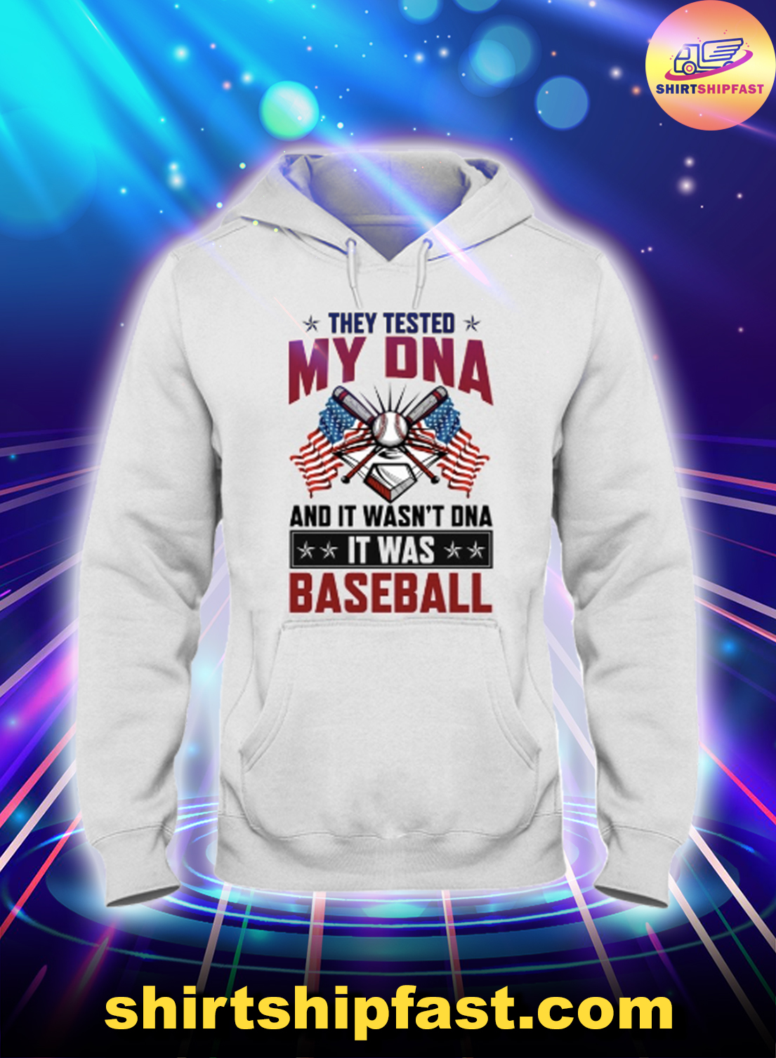 American flag They tested my DNA and it wasn't DNA it was baseball hoodie
