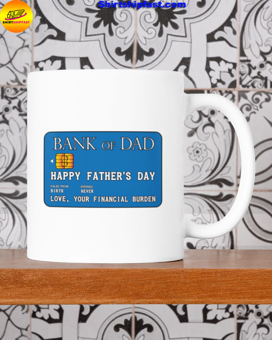Bank of dad Happy father's day mug - Picture 2
