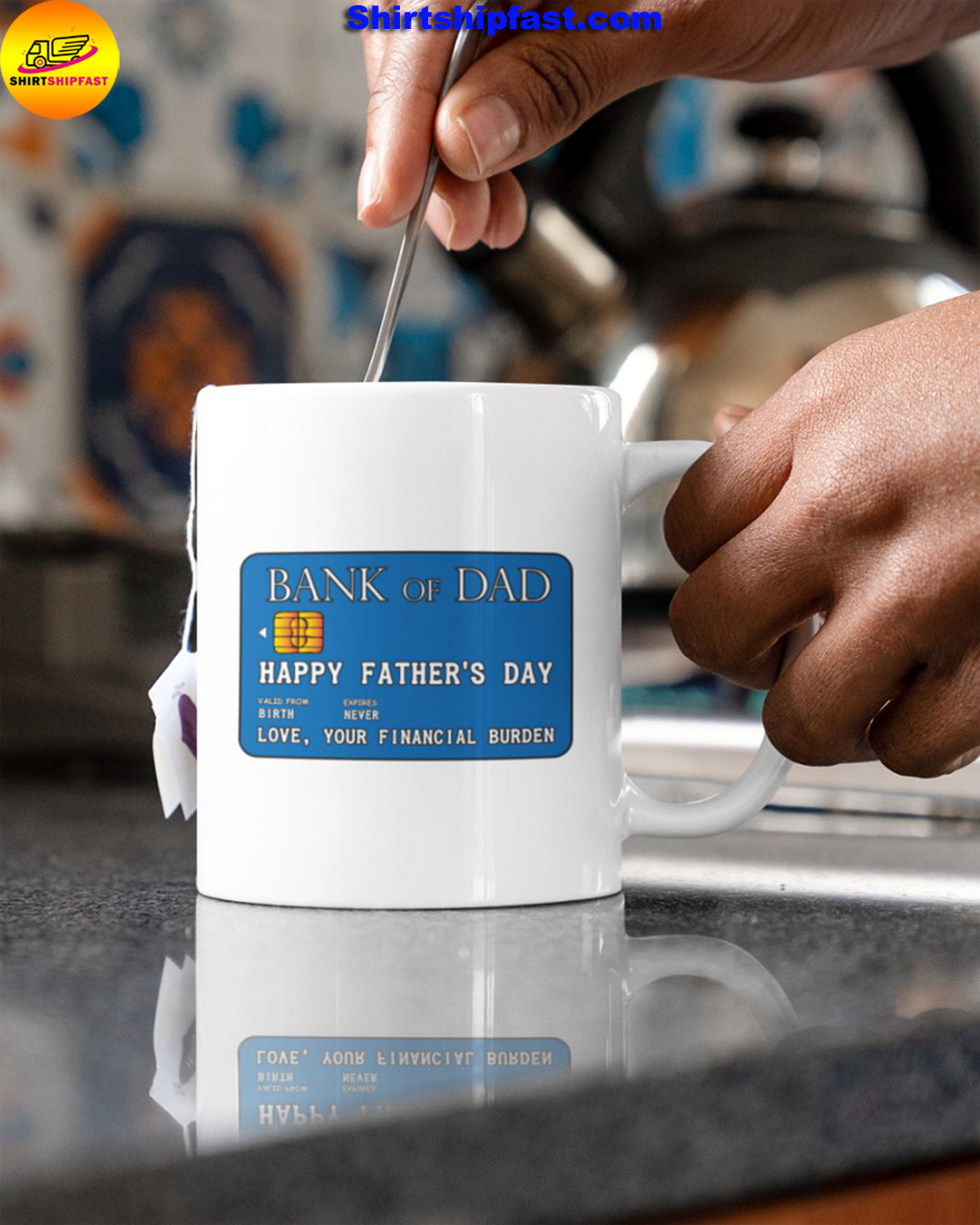 Bank of dad Happy father's day mug - Picture 3
