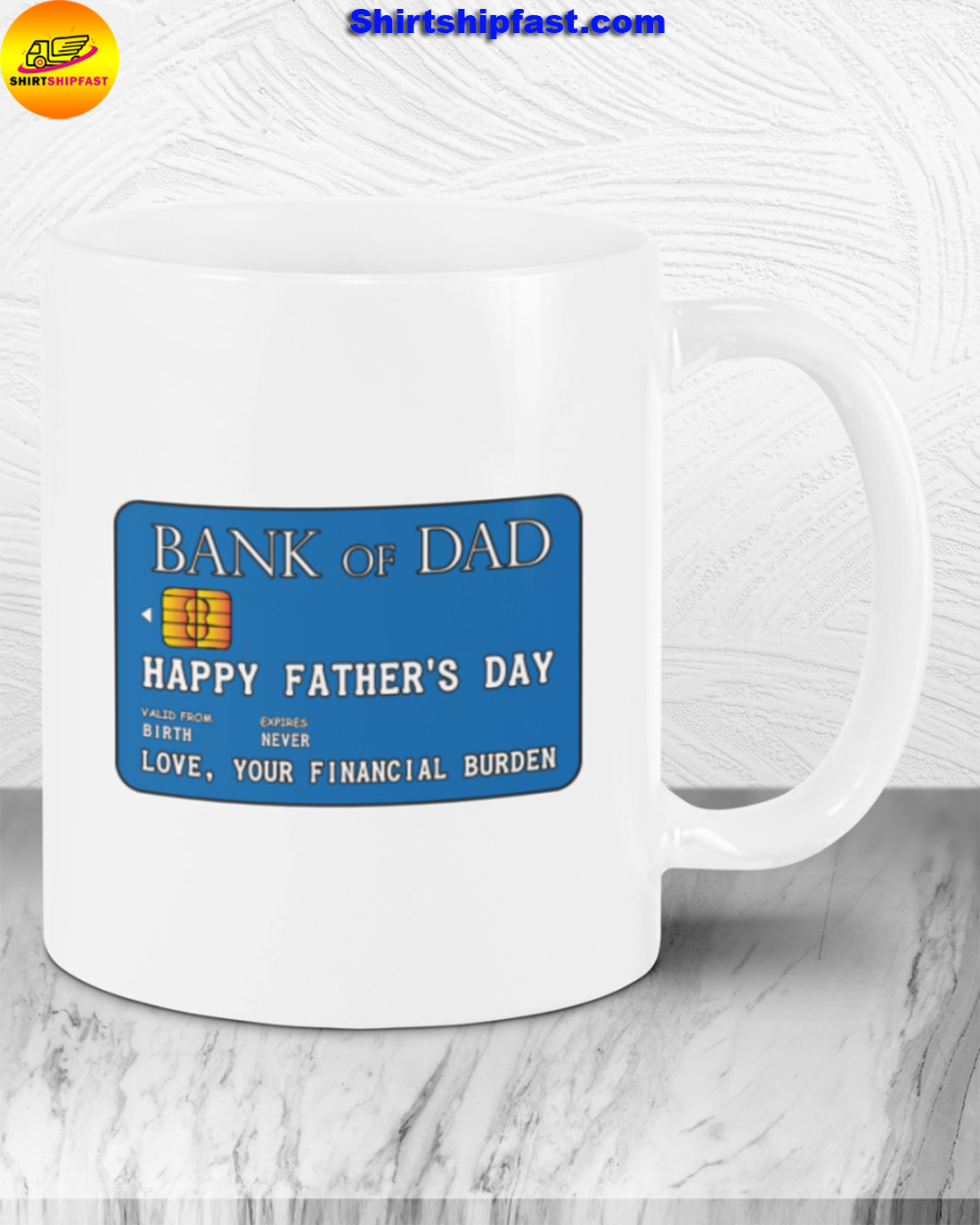 Bank of dad Happy father's day mug