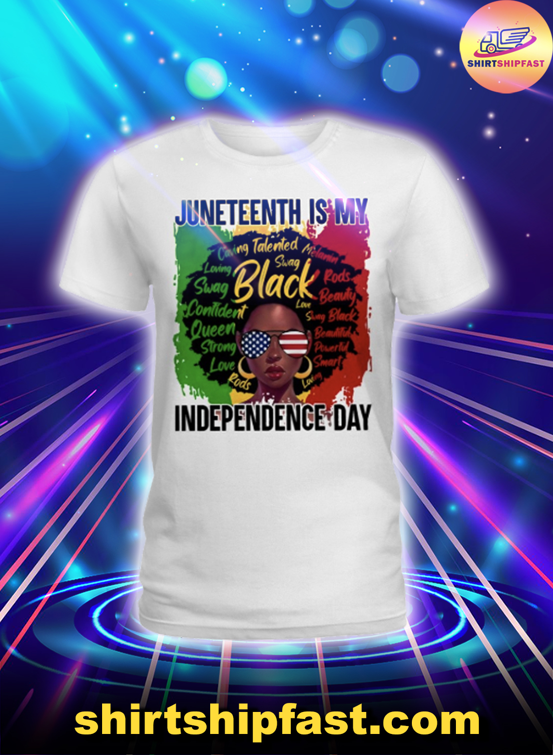Black girl Juneteenth is my independence day lady shirt