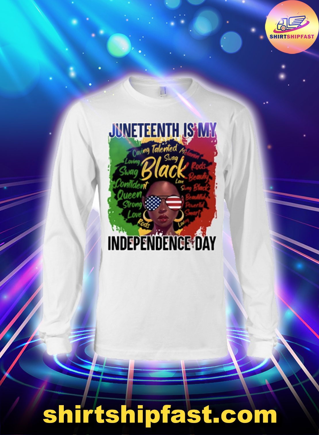 Black girl Juneteenth is my independence day long sleeve tee