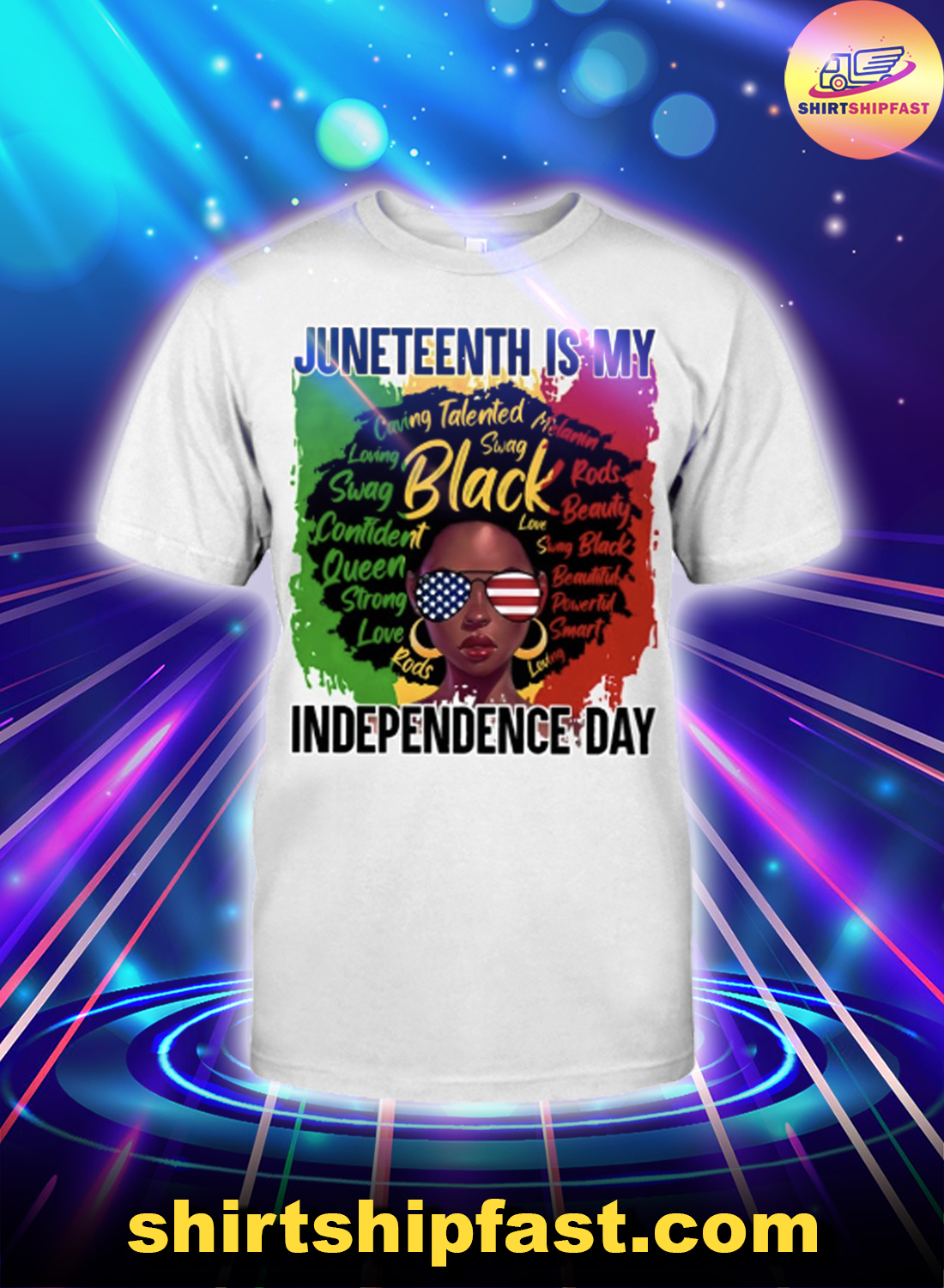 Black girl Juneteenth is my independence day shirt