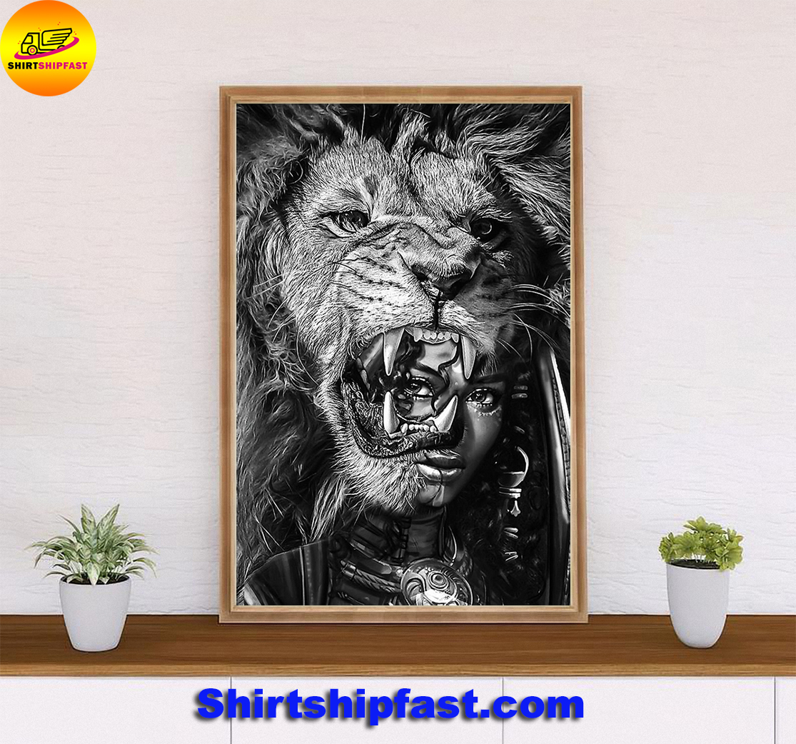 Black girl with lion bcv poster - Picture 3