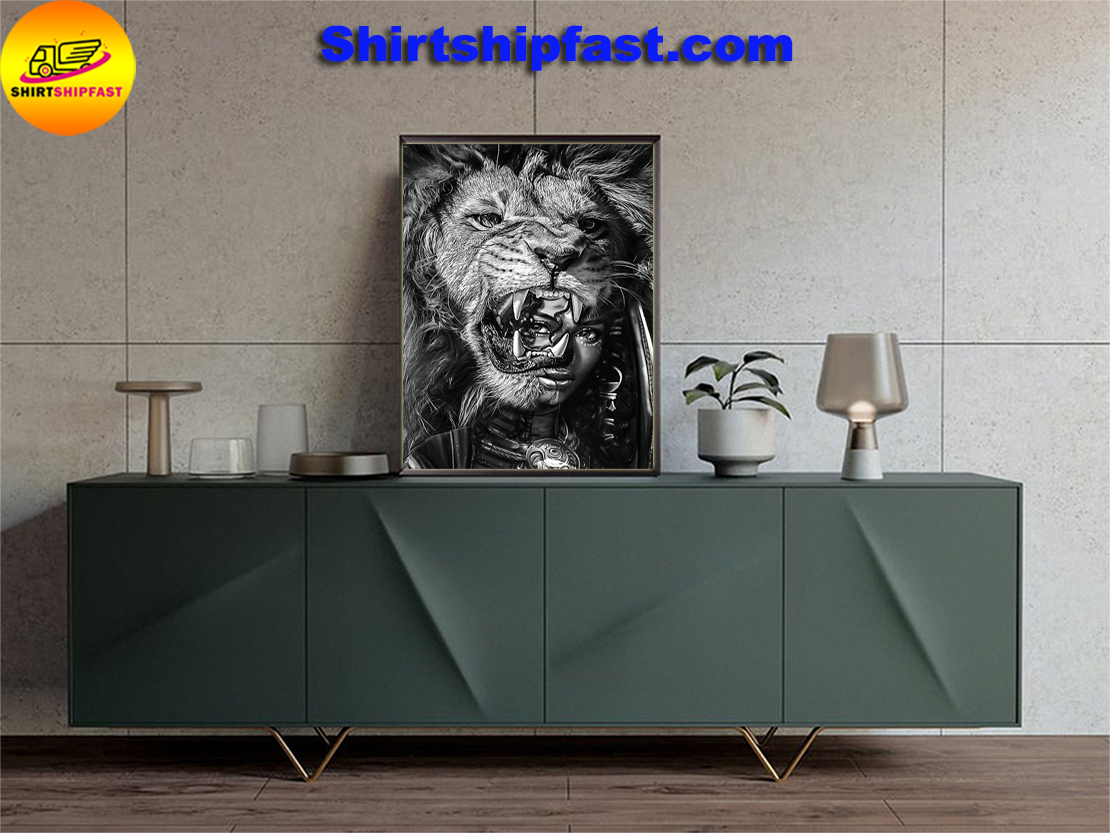 Black girl with lion poster - Picture 2