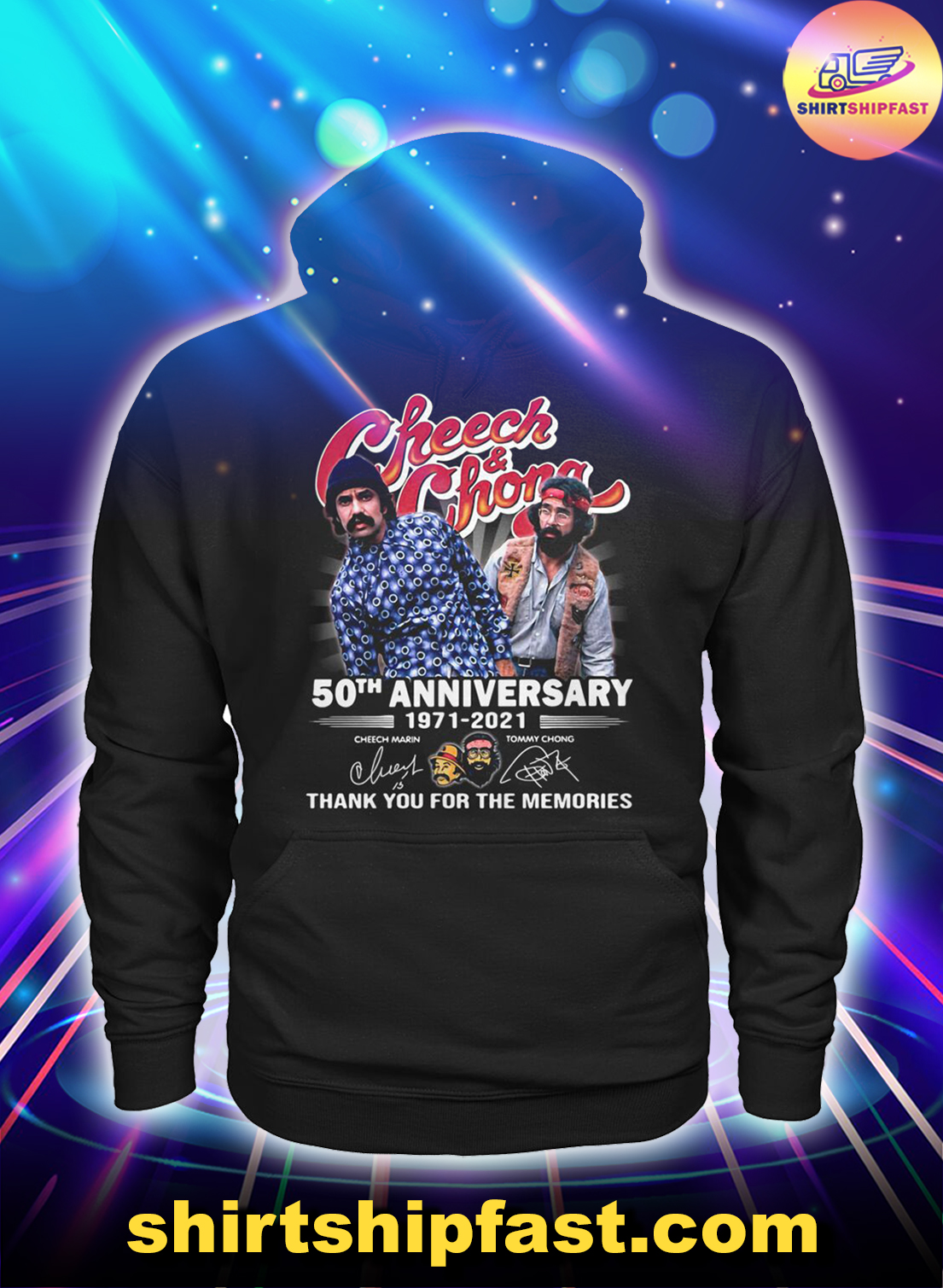 Cheeck and Chong 50th anniversary thank you for the memories hoodie