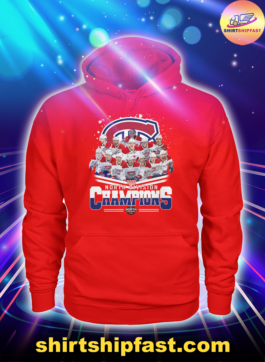 Chicago Bears 2021 North Division champions hoodie