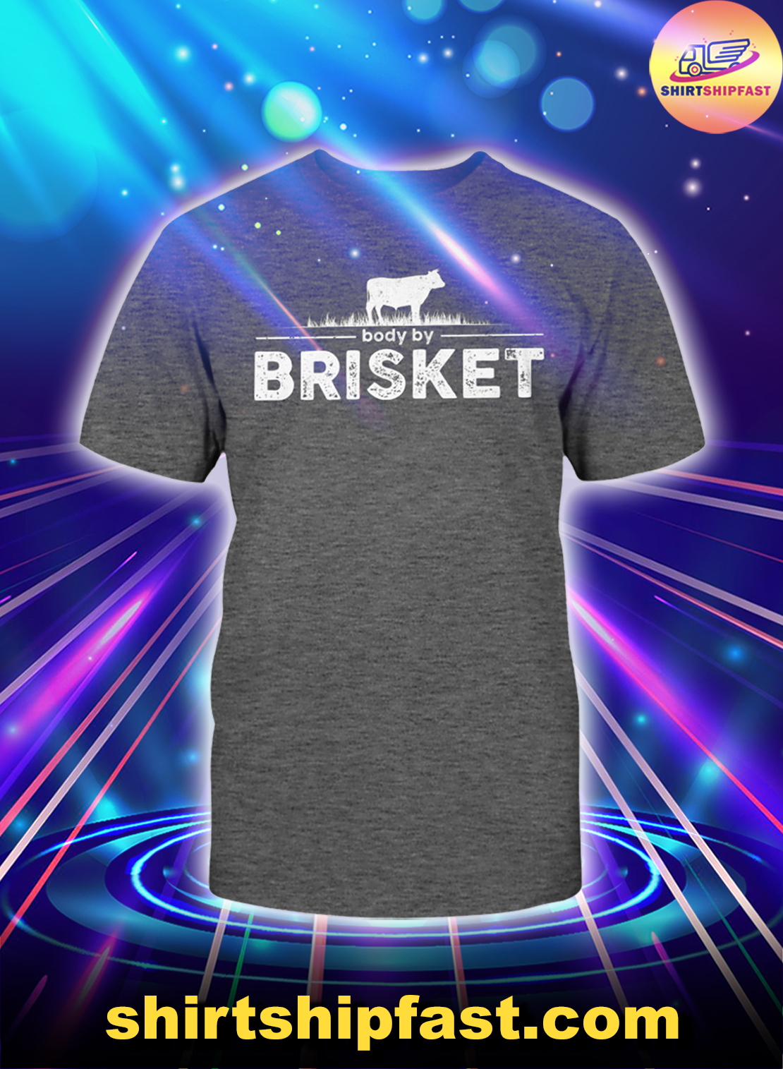 Cow Body by brisket shirt - Charcoal heather