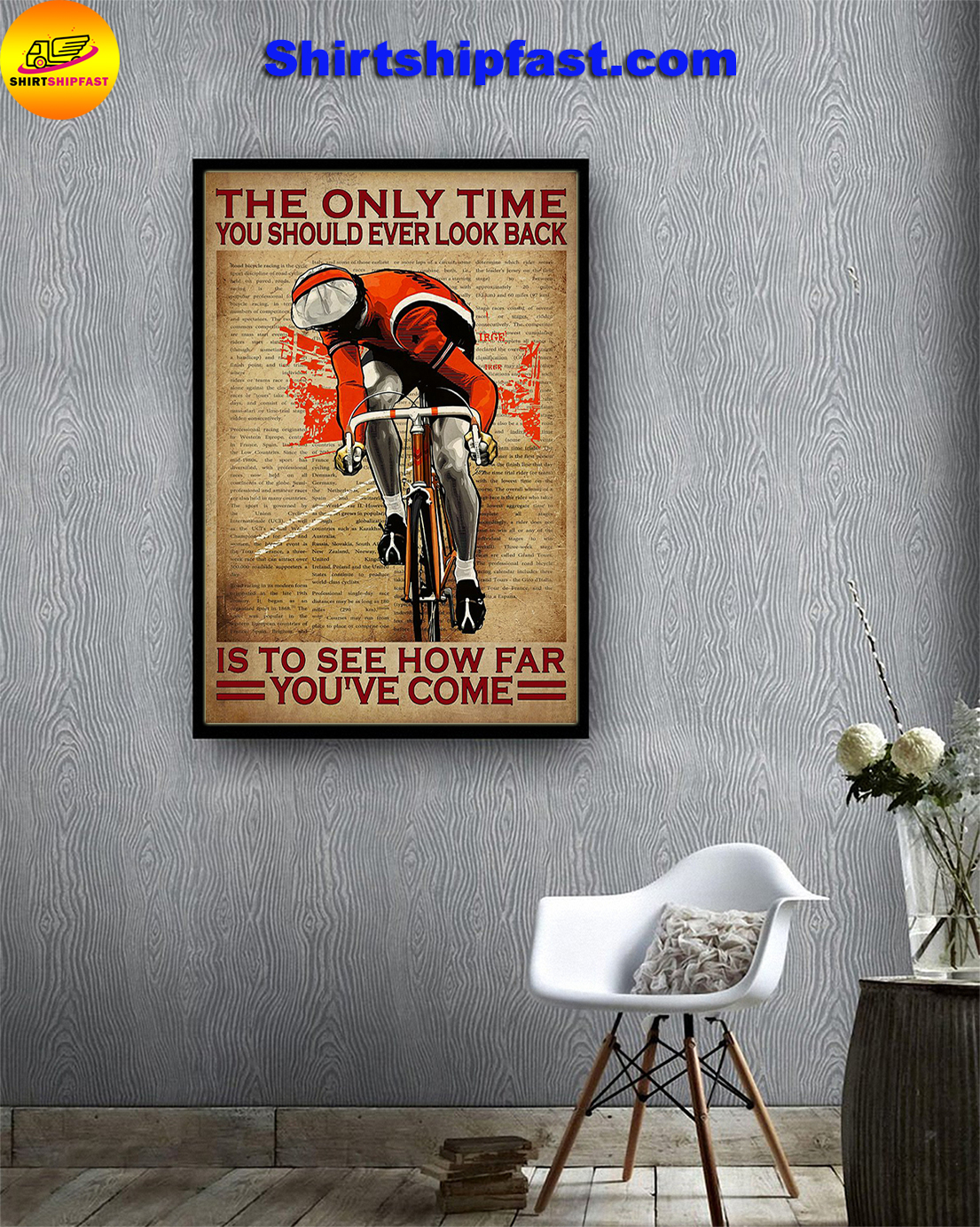 Cycle The only time you should ever look back poster - Picture 1
