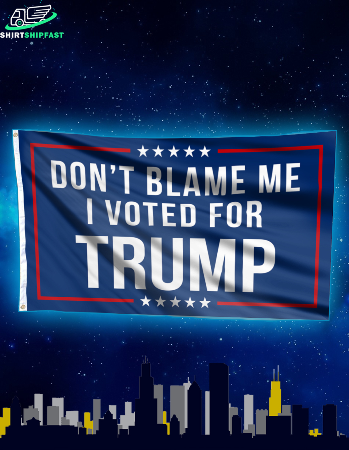 Don't blame me I voted for Trump Flag - House and Garden Flag - Picture 2