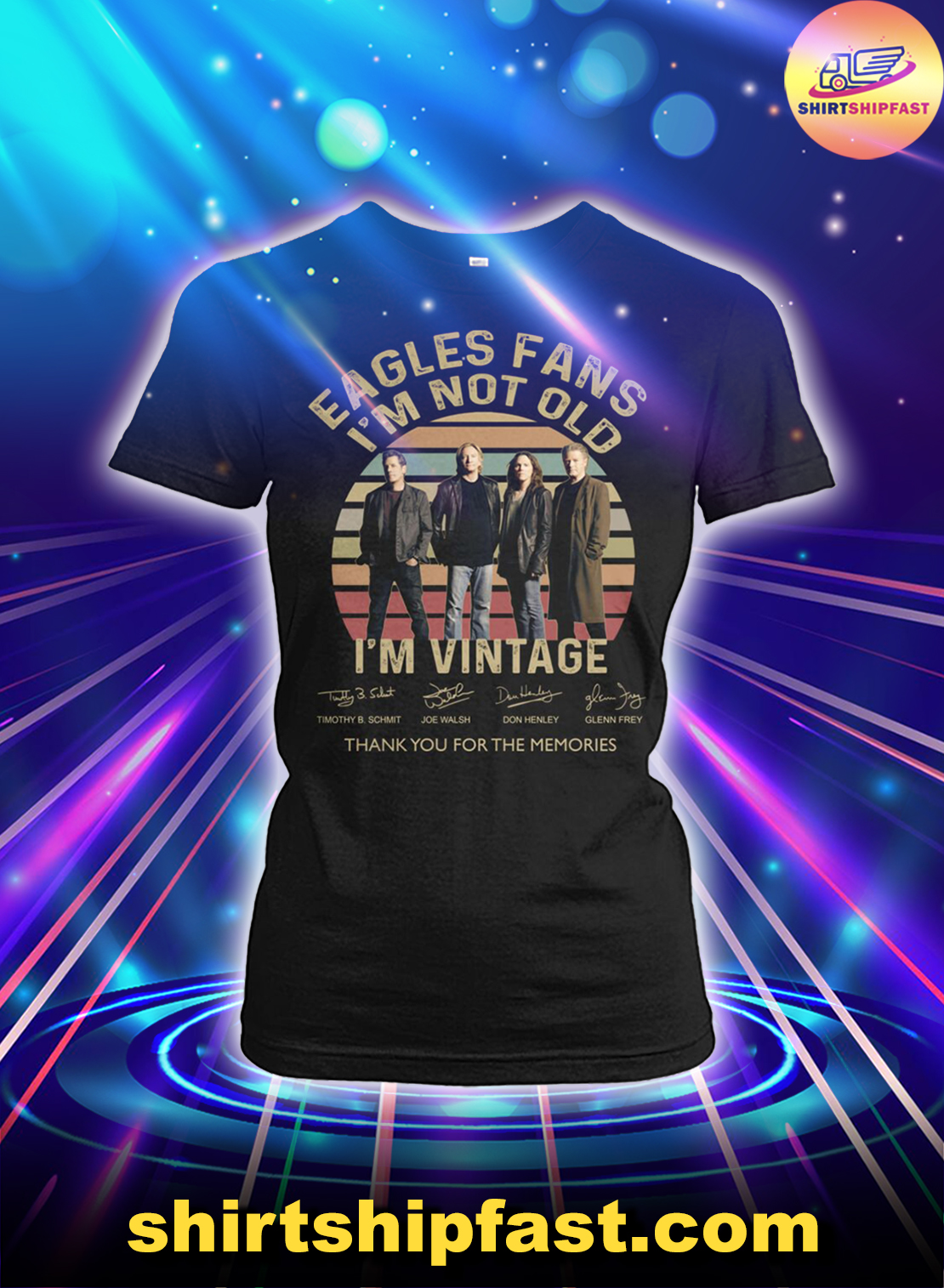 Eagles fans I'm not old I'm vintage thank you for the memories lady shirt