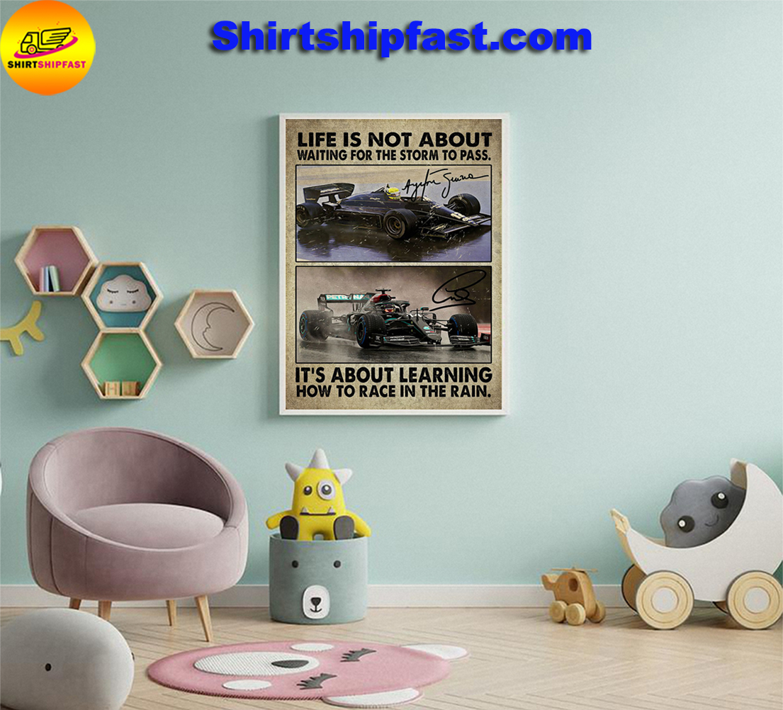 F1 car racing Life is not about waiting for the storm to pass poster - Picture 1