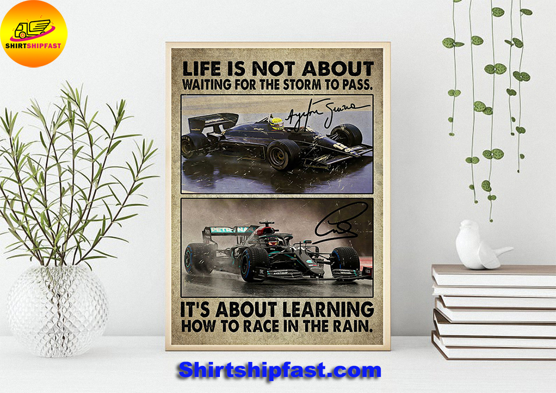 F1 car racing Life is not about waiting for the storm to pass poster - Picture 2