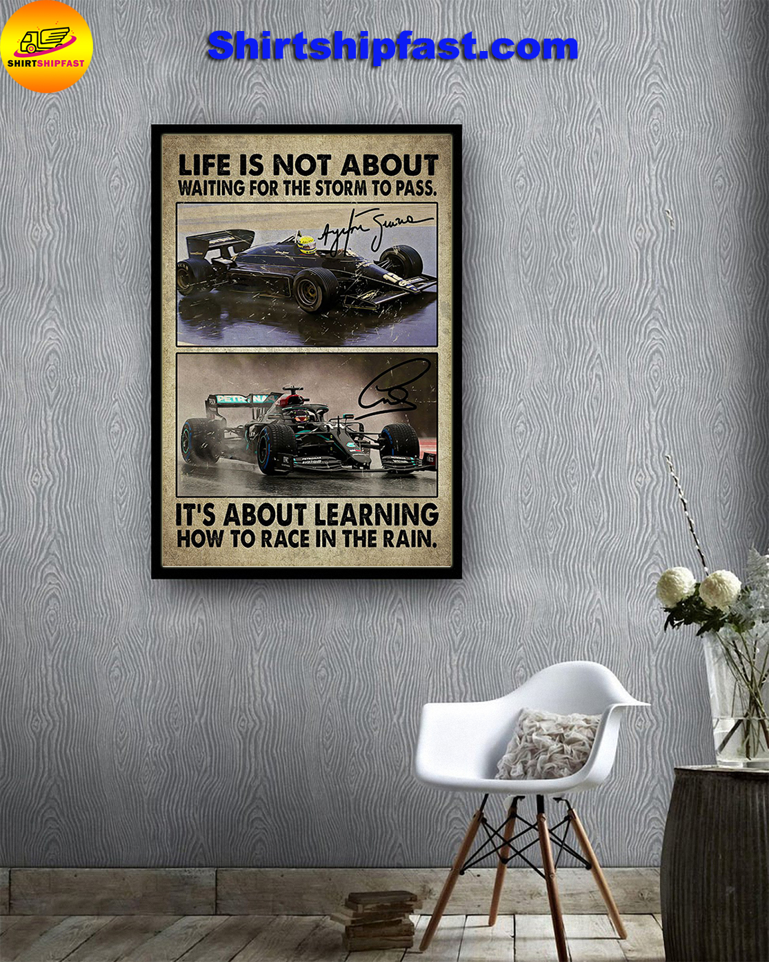 F1 car racing Life is not about waiting for the storm to pass poster - Picture 3