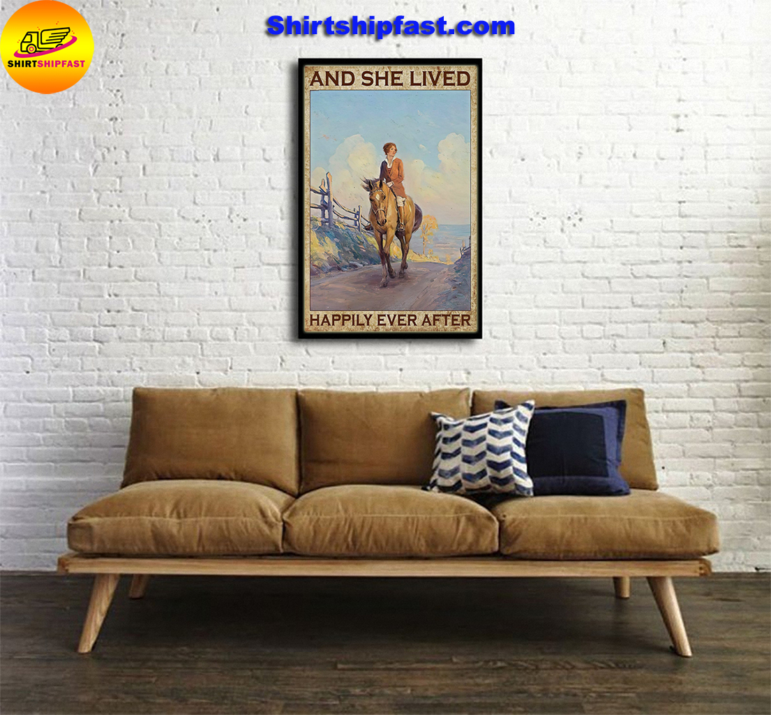 Girl and horse And she lived happily ever after poster - Picture 1