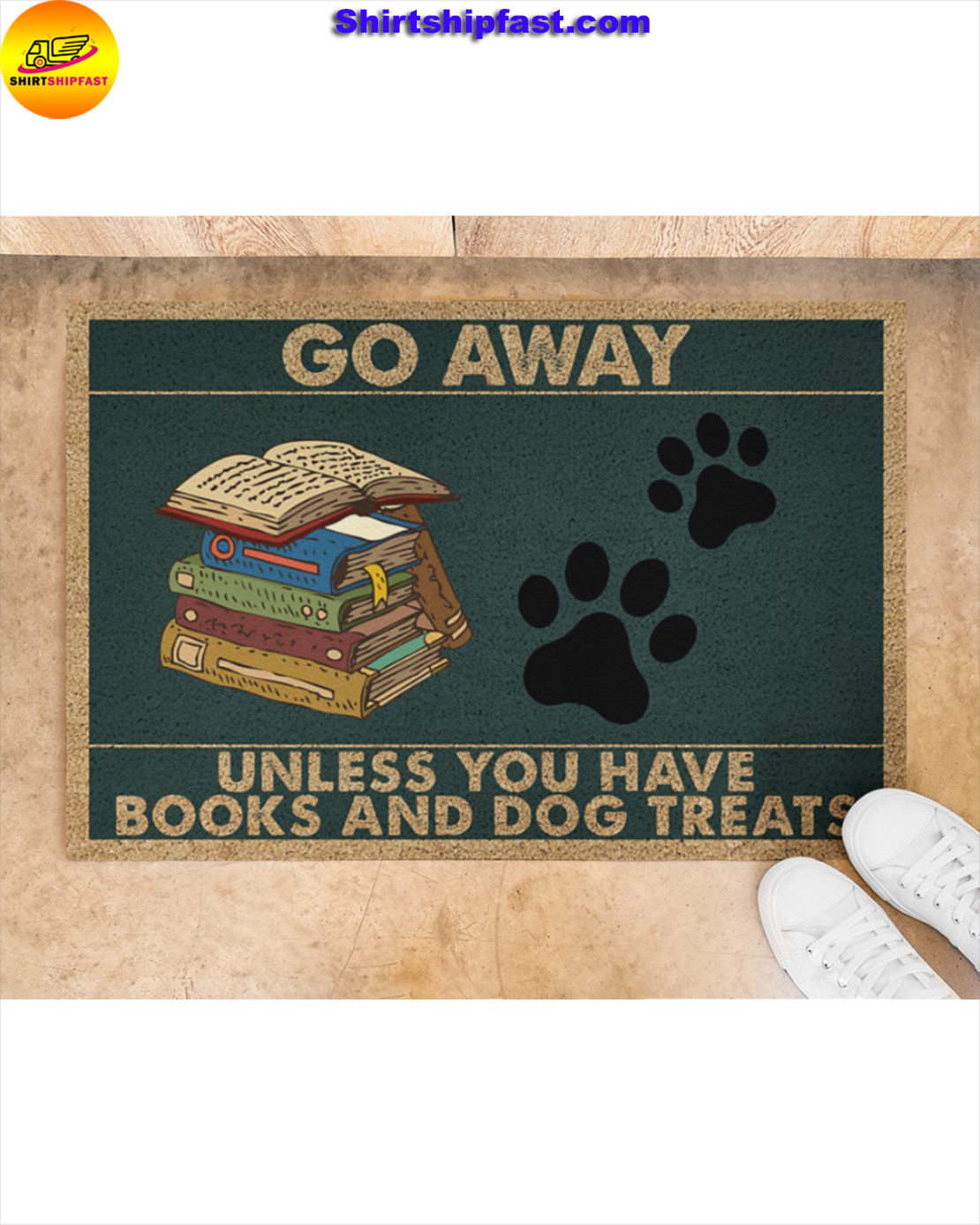 Go away unless you have books and dogs treats doormat - Picture 2
