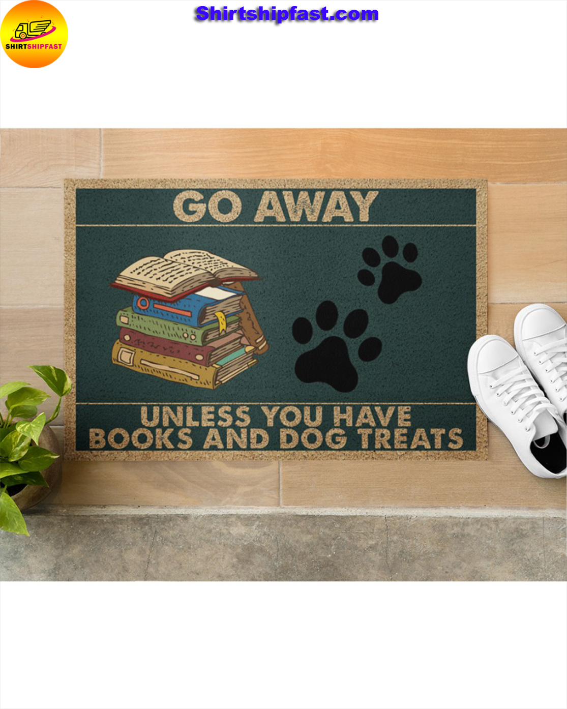 Go away unless you have books and dogs treats doormat - Picture 3