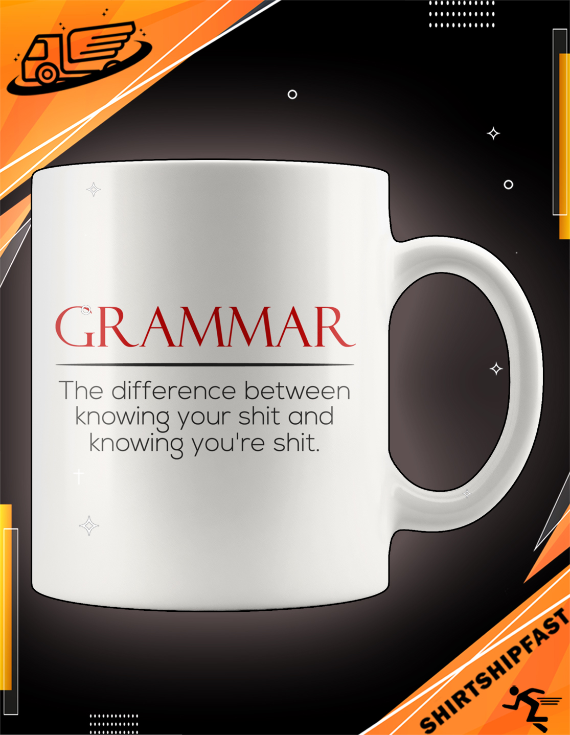 Grammar The difference between knowing your shit and knowing you're shit mug - Picture 2