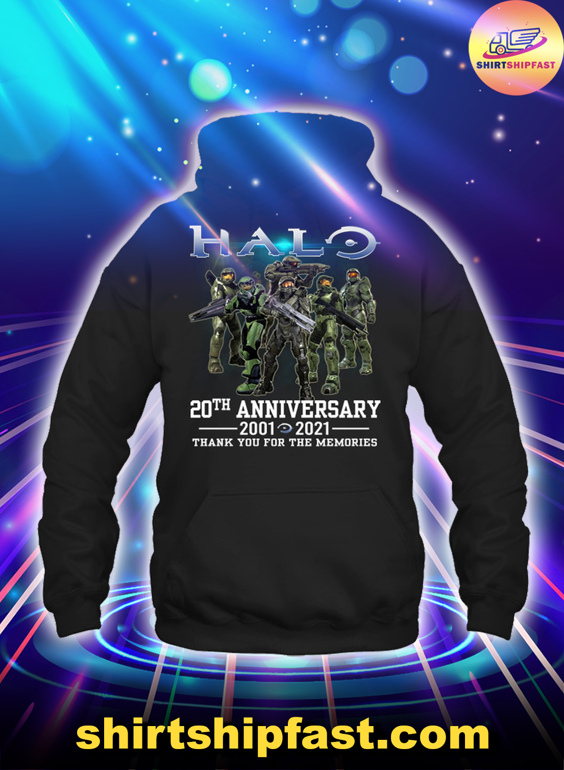 Halo 20th anniversary thank you for the memories hoodie