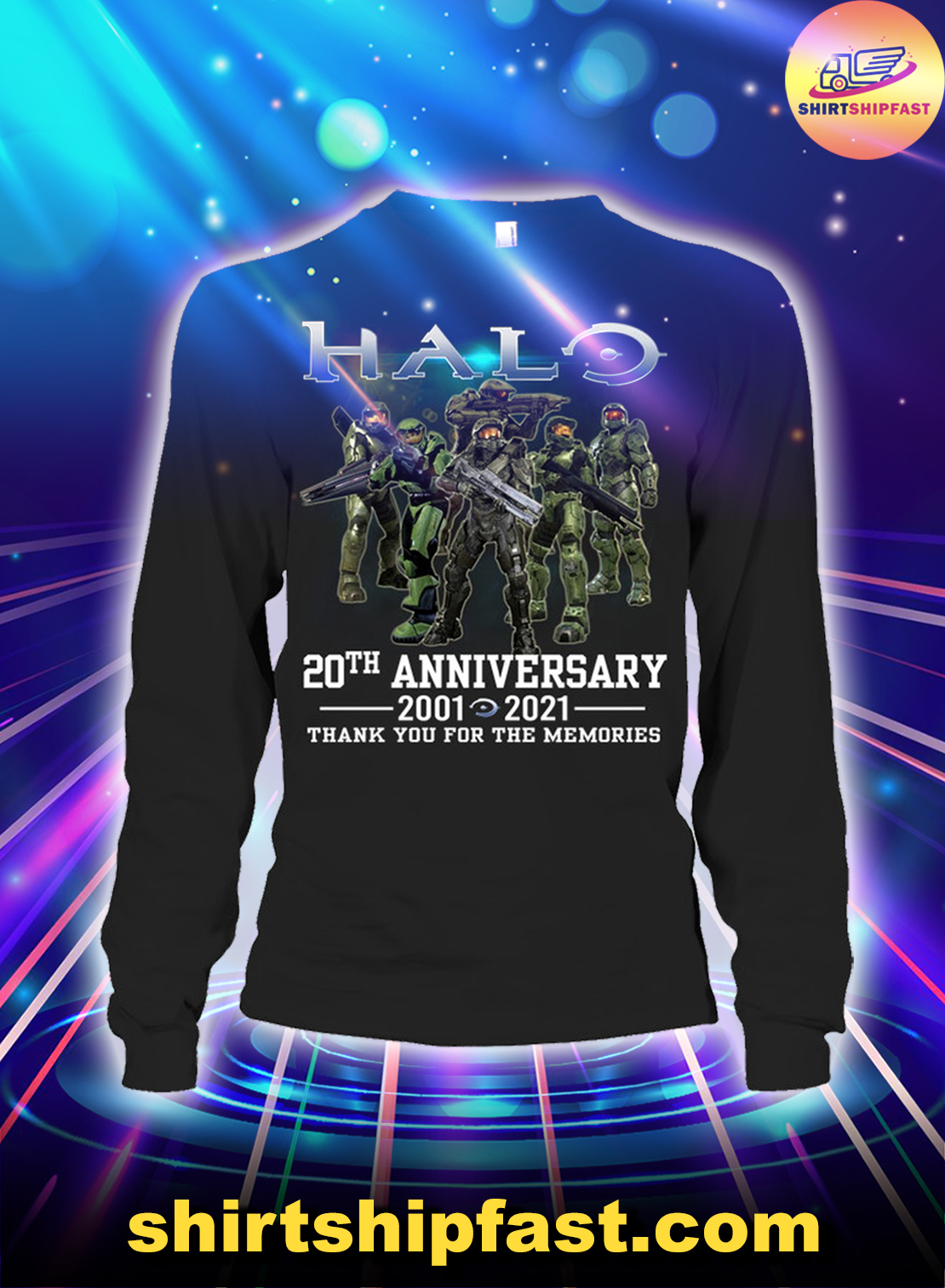 Halo 20th anniversary thank you for the memories long sleeve tee
