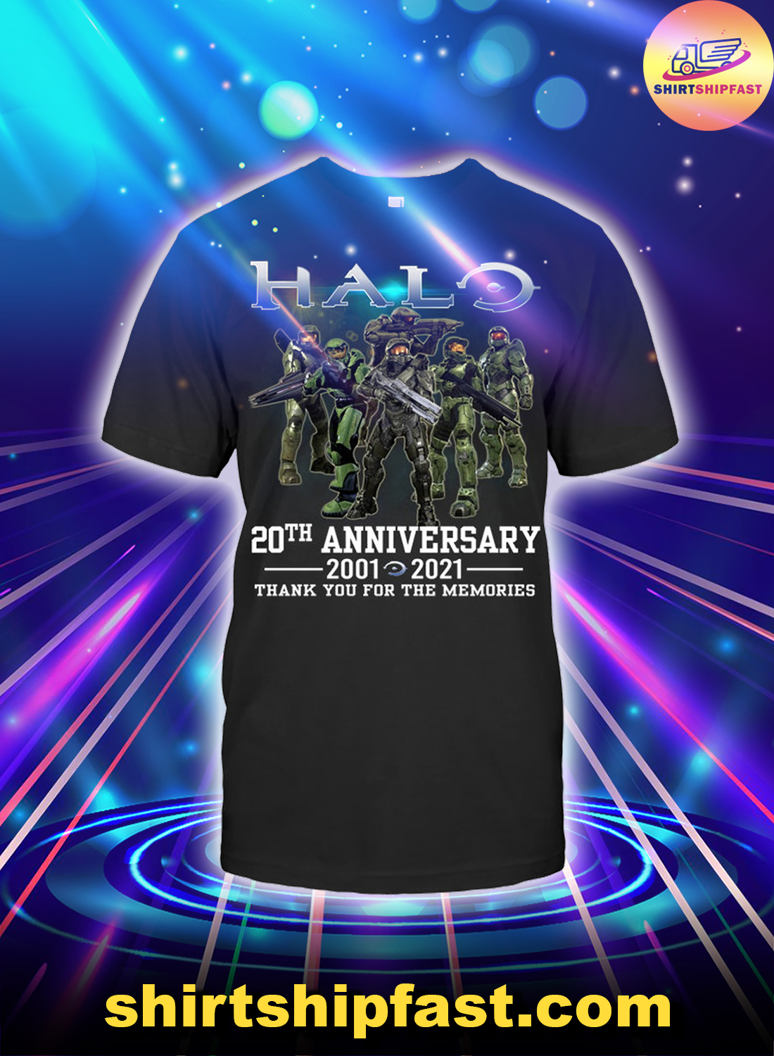 Halo 20th anniversary thank you for the memories shirt